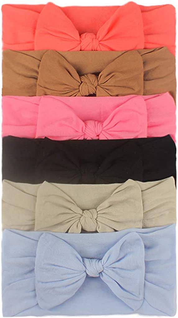 for Babies Girls Baby Toddler Turban Headband Hair Band Bow 6PCS Accessories Headwear Janly Clearance Sale Baby Headband