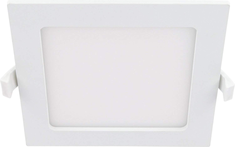 LED 12W Slim Einbaustrahler IP44 230V eckig - Trafo integriert - 850lm - 165x165mm - 32mm flach - 110° - tagesweiß (4000 K) [Energieklasse A+] HAVA