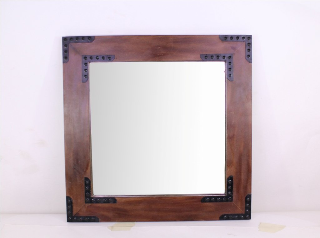 Hosley Wooden Frame Mirror- 20'' High. Ideal for Weddings, Special Occasions, and for Wall Decor, Home, Spa, Aromatherapy, Reiki. P2