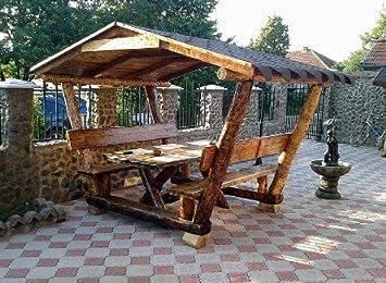 Casa Padrino Rustique Tonnelle avec Table et 2 bancs de ...