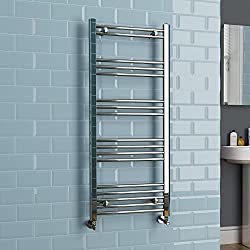 iBathUK | Kudox 1200 x 500 Chrome Heated Towel Rail Designer Bathroom Radiator NS1200500P by iBathUK