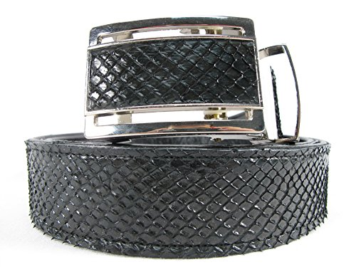 PELGIO Genuine Python Snake Skin Auto Locking Men's Belt 46