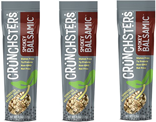 Crunchsters Sprouted Protein Snack Single Serve (1.3 oz) (Smokey Balsamic, 3 Units)