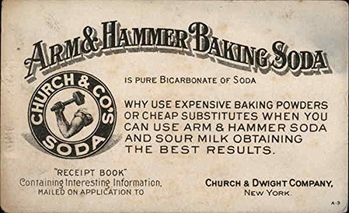 Vintage Advertising Postcard: Arm & Hammer, Church & Co.'s Baking Soda Advertising from CardCow Vintage Postcards
