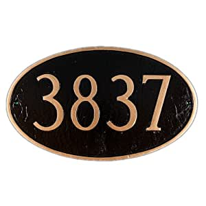 Montague Metal Products Estate Oval Address Plaque, 16.25 by 26.25-Inch