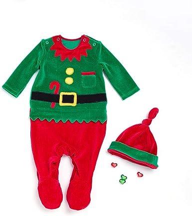 WangWtry Vine Bebé Mameluco para Fiesta Navidad Nuevo Años con ...