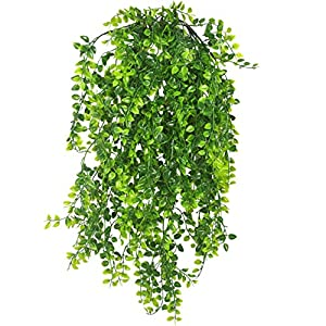 Warmter 2 Pcs Artificial Ivy Fake Hanging Vine Plants Persian Rattan Hanging Plant Plastic Plant Green Decor for Decor 57