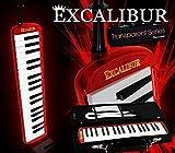 Excalibur Melodica - Transparent Series - Burning Red