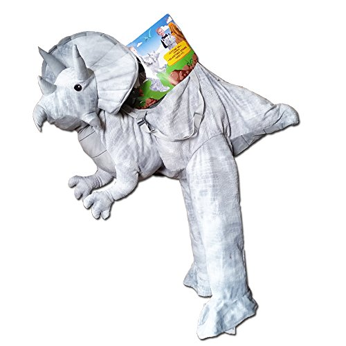 Kids Dinosaur Dress Up (Kids Dress Up Grey Triceratops Costume 3-7 Years by Dinosaur)