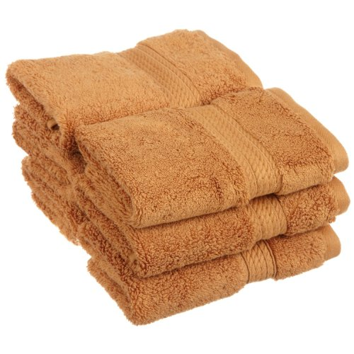 Superior 900 GSM Luxury Bathroom Face Towels, Made of 100% Premium Long-Staple Combed Cotton, Set of 6 Hotel & Spa Quality Washcloths - Rust, 13 x 13 each