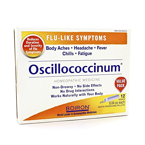 Boiron - Oscillococcinum Quick-Dissolving Pellets for Flu-Like Symptoms - 6 Dose(s)