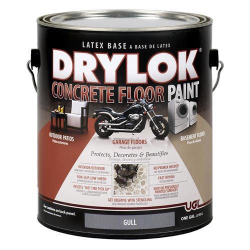 Drylok Concrete Floor Paint, 1 Gallon, Gull