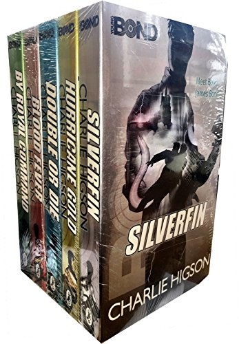 Charlie Higson Young Bond collection 5 books set. (Blood Fever, Double or Die, Hurricane Gold, Silverfin, By Royal (Double Die)