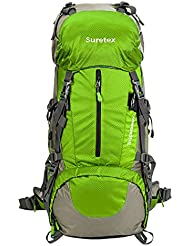 Suretex Hiking Camping Outdoor Backpack 50Liter/60Liter External Frame Waterproof Backpacking pack with Rain cover...