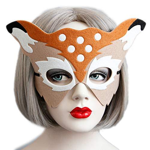 Women's Party Mask Womens Christmas Masks Carnivals Eyemask for Women Deer Mask ()