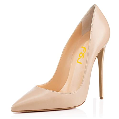 a45c7d215a5 FSJ Women Formal Pointed Toe Pumps High Heel Stilettos Sexy Slip On Dress  Shoes Size 4-15 US