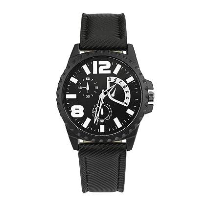 Rcool Relojes suizos relojes de lujo Relojes de pulsera Relojes para mujer Relojes para hombre Relojes deportivos,Diseño retro banda de cuero de aleación ...