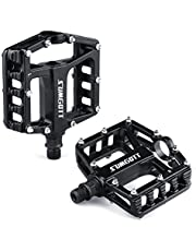 sumgott Metal Bike Pedals, Mountain Bike Pedals with Aluminum Alloy Platform, MTB Cycle Pedals