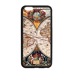 Canting_Good Retro world map Custom Case Shell Skin for iPhone6 Plus 5.5 (Laser Technology)