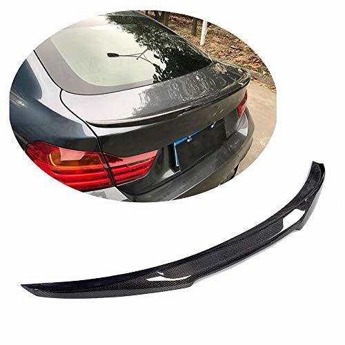 MCARCAR KIT Trunk Spoiler fits BMW 4 Series F36 Gran Coupe 420i 428i 435i 418d 420d 2014-2018 M4 Look Carbon Fiber CF Rear Boot Lid Highkick Spoiler Wing -