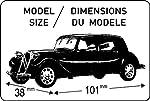 Heller 80159 1:43 Scale Citroen 11 CV Model by Heller