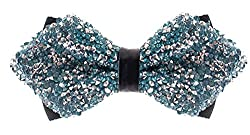 Rhinestone Diamond Tip Pretied Bow Ties