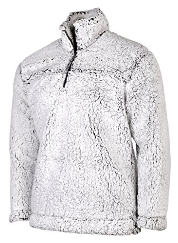 Boxercraft Adult Super Soft 1/4 Zip Sherpa Pullover-Smokey Grey-medium