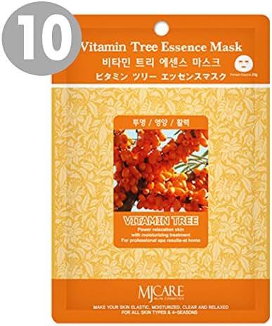 The Elixir Beauty MJ Korean Cosmetic Vitamin Tree Premium Essence Mask Pack Sheet (23g, 10 Packs)