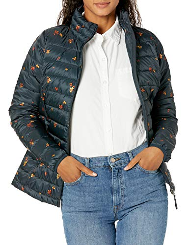 Amazon Essentials Women's Lightweight Long-Sleeve Full-Zip Water-Resistant Packable Puffer Jacket