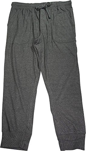 Elastic Cuff Pants (IZOD Men's Sueded Jersey Sleep Pant, Heather Charcoal, Large)