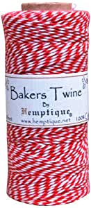 Hemptique bts2red-w  Baker's Twine Spool 50-Gram, Red