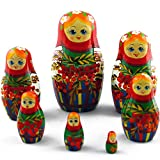 MATRYOSHKA&HANDICRAFT Russian Nesting Dolls - Matryoshka Dolls with Ashberry Set 7 pcs