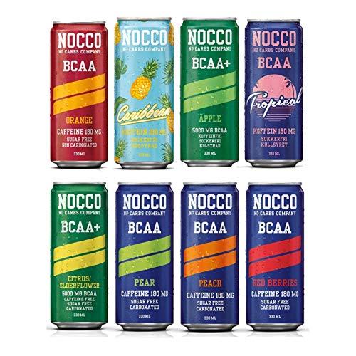 NOCCO (No Carbs Company) gemischte Fall (12 x 330 ml Dosen) ALLE GESCHMACK