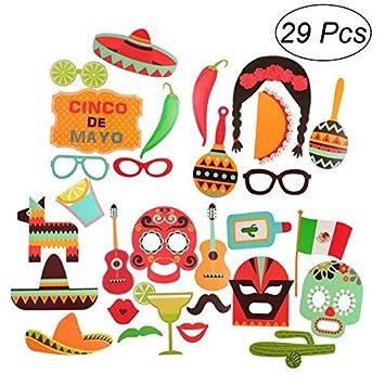 Be Rd Cinco De Mayo Mexican Fiesta P O Booth Props Party Supplies 29 Pieces Amazon Co Uk Toys Games
