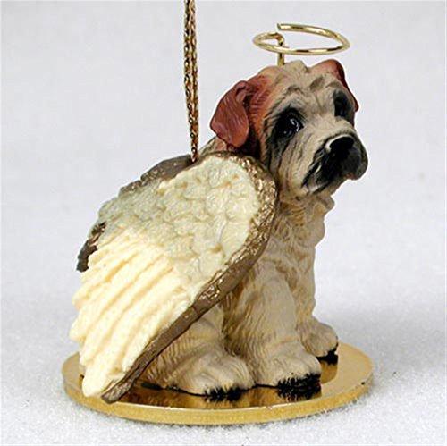 (Ky & Co YesKela Shar Pei Dog Figurine Angel Statue Hand Painted Cream)