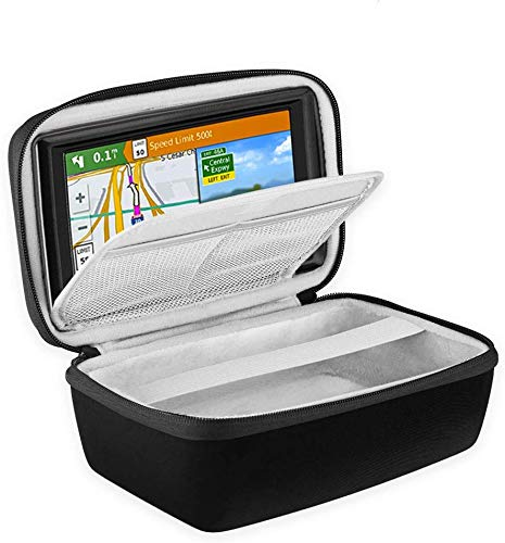 """BOVKE Hard Carrying Case for 5-Inch GPS Navigator Fit Garmin Nuvi 55LM 2557LMT 52LM 42LM tomtom Mio 4.3-5"""" Accessories Travel Bag, Black"""