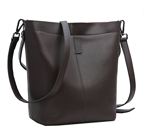 en Fashion Leather Shoulder Bag Handbags Christmas Gift (Coffee) (Team Logo Medium Gift Bag)