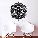Sticker mural Motif géométrique floral indien Motif Namaste Tapis de Yoga Motif fleur marocain Om en vinyle autocollant mural en vinyle pour décoration murale