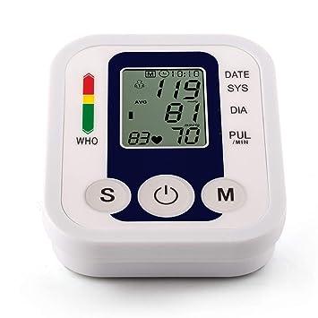 YHMMOO Tensiómetro de Brazo con Gran Pantalla LCD y Detección del Pulso Arrítmico,2 x 99 Memoria, Función de Voz Opcional: Amazon.es: Deportes y aire libre
