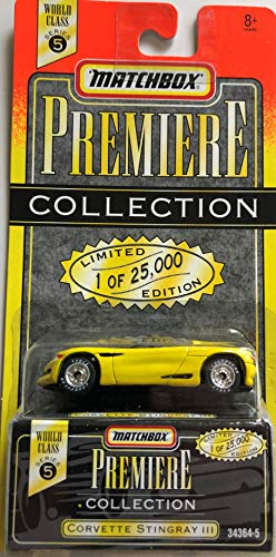 Corvette Stingray lll (yellow) Matchbox Premiere Series 5 #34364-5 by Matchbox