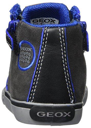 Geox B Kilwi Boy, Zapatillas para Bebés Gris (DK Grey/Royal)