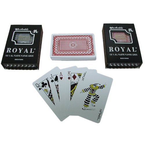Royal 100% Plastic Bridge-Sized Playing Cards, Two Decks (Star Pattern) (One Pattern Deck)