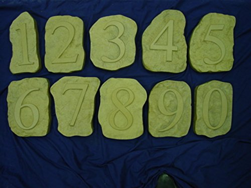 0-9 Monogram Number Concrete or Plaster Mold Set 1238 by Mold Creations