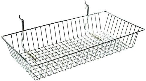 Azar Displays 300625 5''H Chrome Wire Basket