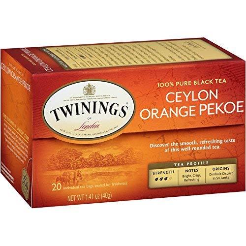 Twinings of London Ceylon Orange Pekoe Tea Bags, 20 Count - Pack of 18 by Twinings