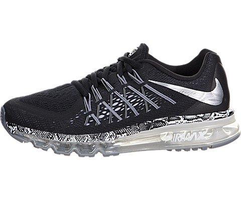 NIKE Kids Air Max 2015 (GS) Black/Mtllc Slvr/Cl Gry/White Running Shoe 7 Kids US (Nike New 2015 Kids Shoes)