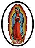 Our Lady of Guadalupe oval decal for auto, truck or boat
