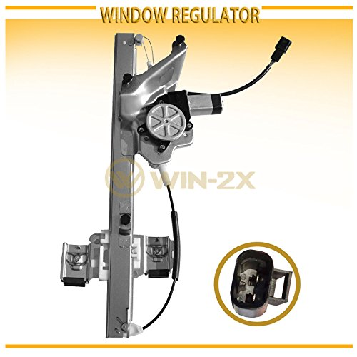 WIN-2X New 1pc Front Passenger Right Side Power Window Regulator With Motor Assembly Fit 00-05 Buick LeSabre Buick Lesabre 4 Piece