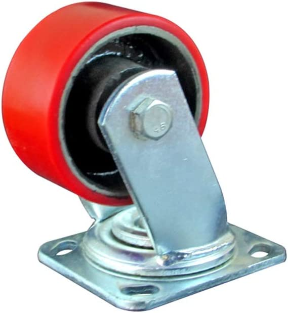 360 Degree Rotation Used for Skateboard Wheels Office Chair Casters Double Safety Lock Push Wheels Castor wheels Castor Wheels No Noise Color : Style2, Size : 6in Polyurethane