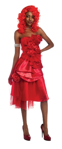 Rihanna Dress Costume, Red, Standard